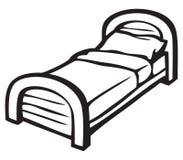 Bed and pillow Stock Photos
