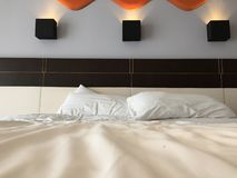 Bed and pillow Royalty Free Stock Photography