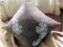 Bed with pillows Stock Photos