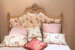 Bed and pillows Royalty Free Stock Images
