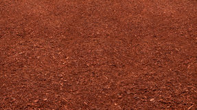Red Mulch Bed Royalty Free Stock Photo