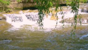 The bed of the river Olkhovka, in municipal, medical, resort, Alpine Park of Kislovodsk. stock footage