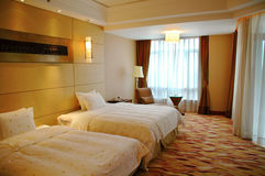 Bed room. The view of luxury bed room (interior of house Stock Photo