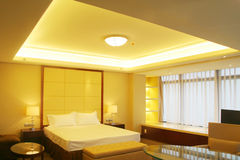 Bed room. Interior  with king size bed Royalty Free Stock Images