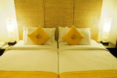 Bed room. Luxery resort bed room, interior Stock Images