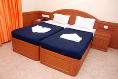 Bed room. Luxury bed room at mamalla resort in chennai Stock Photography