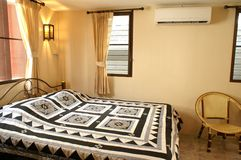 Bed room air con Royalty Free Stock Photos