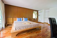Bed Room at Analay resort Royalty Free Stock Image