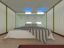 Bed room. 3D CG rendering of the bed room Stock Photo