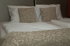 Bed Room. Double bed room in luxury suite Stock Image