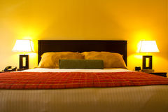 Bed room interior. Interior of an classic romance bed room Royalty Free Stock Photos