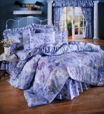 Bed room set with bedding Stock Image