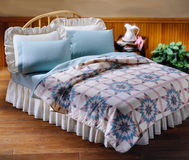 Bed room set with bedding Stock Images
