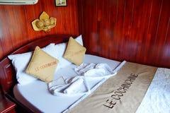 Bed in staatsiezaal Stock Fotografie