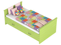 Bed with storage drawers Royalty Free Stock Photos