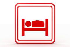 Bed symbol Stock Image