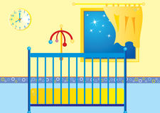 Bed Time. A  illustration of a babies room at the bed time Stock Image