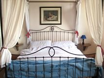 Bed in Toscaanse boerderij Royalty-vrije Stock Fotografie