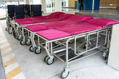 bed for transporting the patient Royalty Free Stock Images