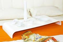 Bed tray Stock Photo