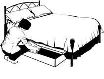 bed under royaltyfri illustrationer