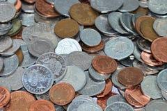 Bed van muntstukken Royalty-vrije Stock Afbeelding