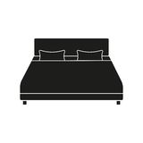 Bed vector icon Royalty Free Stock Photos