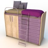 Bed Wardrobe Set Royalty Free Stock Image