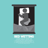 Bed-Wetting Black Graphic Symbol Stock Photography