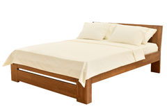 Bed on white Royalty Free Stock Images