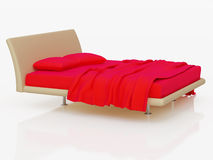 bed white Arkivfoto