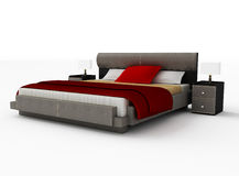 Bed on a white background Royalty Free Stock Images