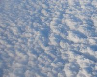 Bed of White Clouds in Sky captured from Air Royalty Free Stock Photo