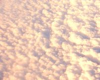 Bed of White Clouds in Sky captured from Air Stock Photography