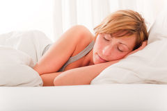 Bed woman Royalty Free Stock Photo