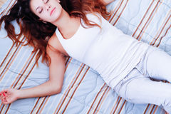 On the Bed Royalty Free Stock Photography