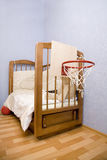 Bed of youth basketball-player Royalty Free Stock Images