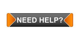 Bedarfs-Hilfe-Taste Stockbilder