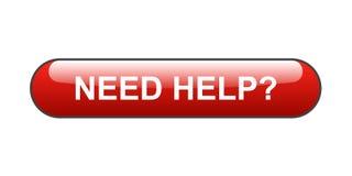 Bedarfs-Hilfe-Taste Stockbild