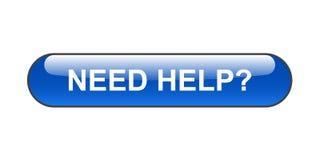 Bedarfs-Hilfe-Taste Stockfoto