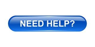 Bedarfs-Hilfe-Taste Stockfotos