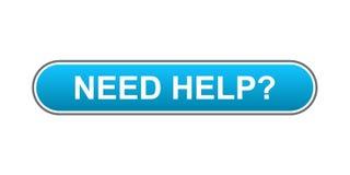 Bedarfs-Hilfe-Taste Stockfotografie