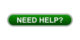 Bedarfs-Hilfe-Taste Lizenzfreies Stockfoto