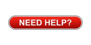 Bedarfs-Hilfe-Taste Lizenzfreies Stockbild