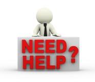 Bedarfshilfe der Person 3d Lizenzfreies Stockfoto