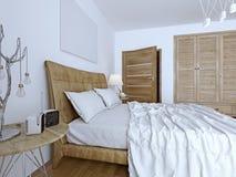 Bedchamber contemporary design Stock Image