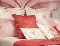 BEDCLOTHES IN DISPLAY Stock Photos