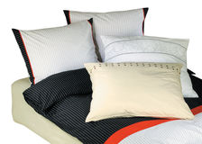 Bedclothes isolated. On white with clipping path Royalty Free Stock Image