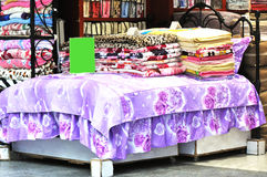 Bedclothes store Stock Photography