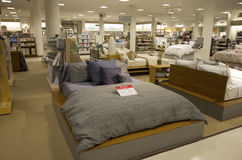 Bedding and home goods department store royalty free stock photography